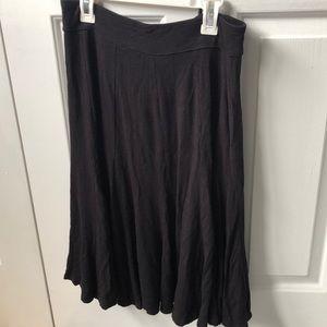 Christopher&Banks High waist black flowy skirt